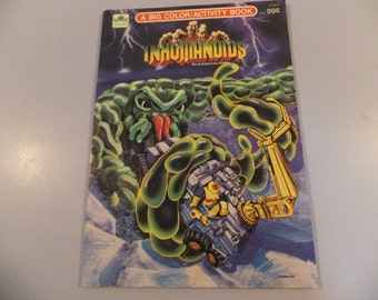 Extremely Rare and Vintage Inhumanoids Coloring and Activity Book Golden Book