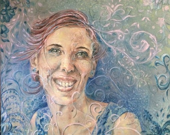"Custom Portrait - Acrylic - 16"" x16"""