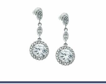 Crystal Earrings, Bridal Earrings, Wedding Jewelry, Bridesmaids Earrings, CZ Earrings, Bridal Jewelry, Bridesmaids Jewelry, Prom Jewelry
