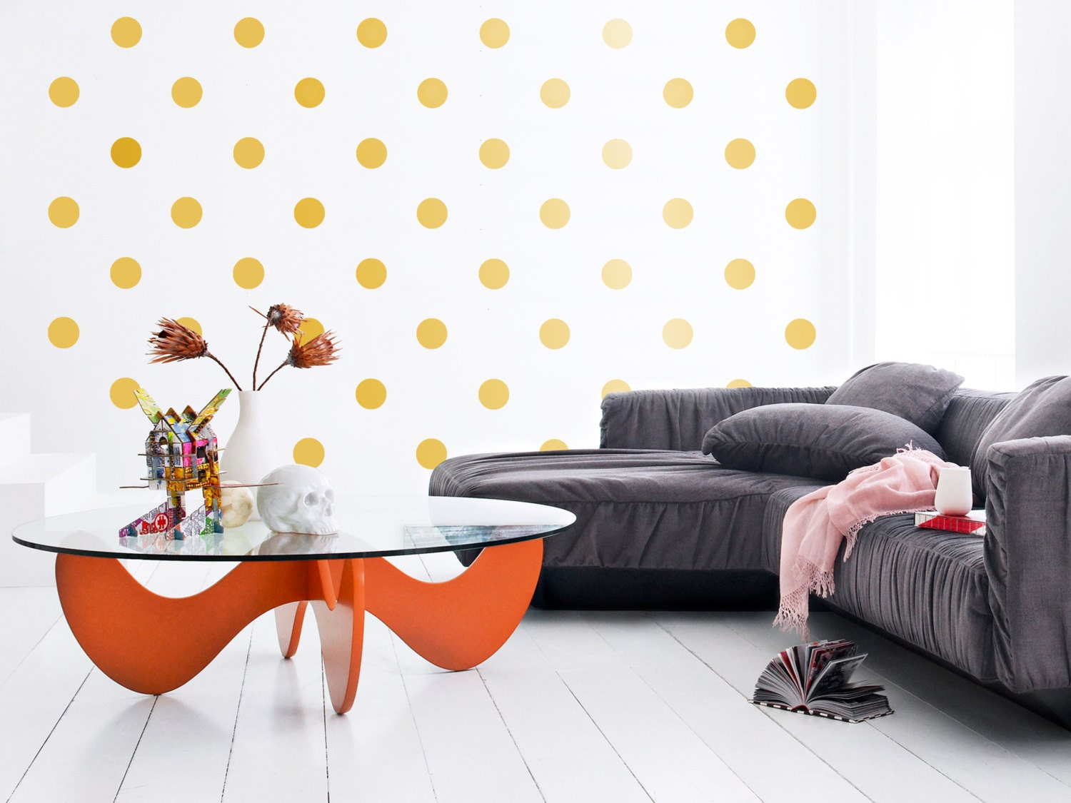 Polka Dot Bedroom Decor Large Polka Dot Wall Sticker Polka Dot Wall Sticker Wall Decal