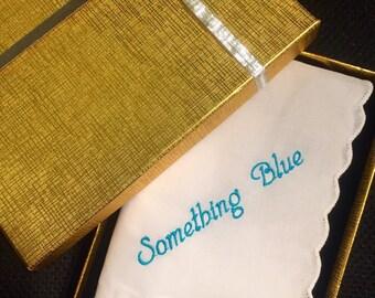 Something blue wedding handkerchief