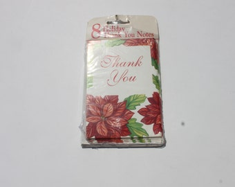 Vintage Christmas Thank you Cards, Holiday Thank you Cards, Thank You Cards with envelopes