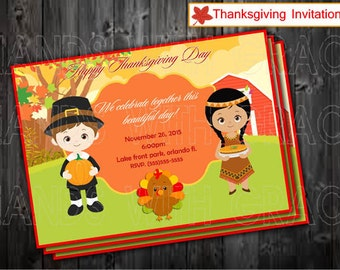 Printable invitation Thanksgiving and thank you cards !