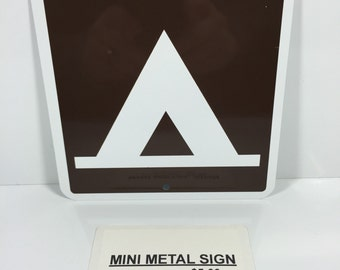 "Tent Camping Mini Metal Home Street Sign 6""x6"" or 12""x12"" NEW"
