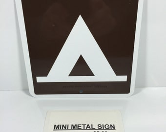 "Tent Camping Mini Metal Home Street Sign 6""x6"" NEW"