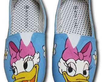 Daisy Duck Inspired Canvas Shoes