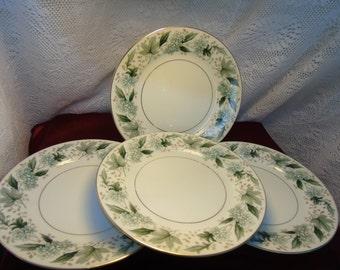 Vintage Noritake Fine China Salad Plates (set of 4) ARGYLE PATTERN 5311