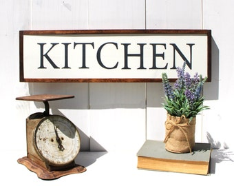Kitchen Wood Sign - Rustic Kitchen Decor - Rustic Sign - Farmhouse Signs - Wooden Sign - Fixer Upper Decor - Wall Decor - Custom Sign