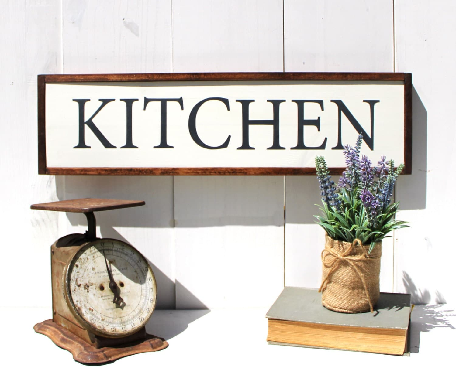 Wooden Signs Home Decor: Kitchen Wood Sign Rustic Kitchen Decor Rustic Sign