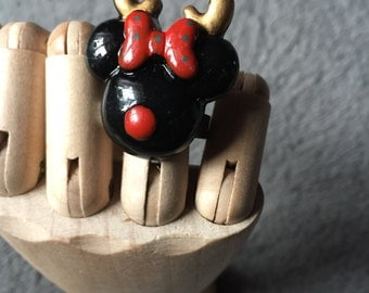 Christmas Minnie Mouse Ring