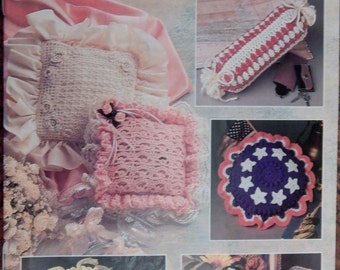 Vintage Annie's Attic Crochet Pillow Panache Pattern Booklet From 1994( 20% Price Reduction)