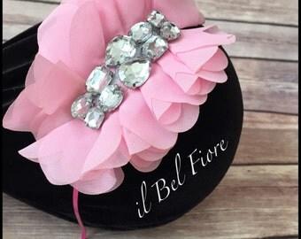 Pink Flower Headband, Toddler Child Girl Headband, Metal Flower Headband, Pink Headband