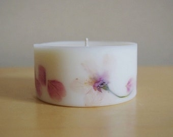 Cherry Blossom Soy Wax Pillar Candle (Small)