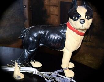 Antique Hubley Boston Terrier Door Stop     Sku: C000