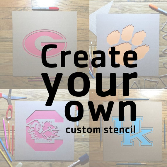 Wall Stencils Design Your Own : Create your own custom stencil