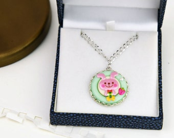 Cute Sweet Bunny Necklace. Little DDlg Pastel Goth Kawaii Girl