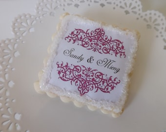 Sugar Cookie Wedding Favors-Personalized Bridal Shower Favors