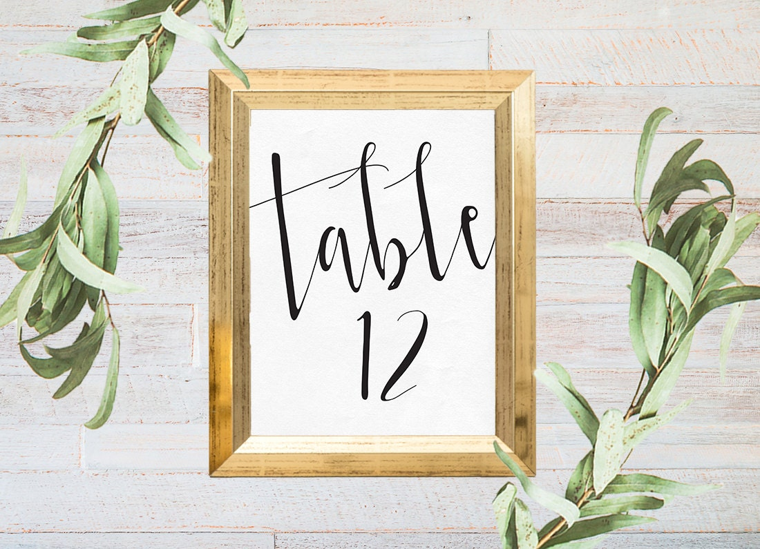 Table numbers printable, 12 pack, Printable table Numbers, Wedding table numbers, Wedding reception stationery, Rustic wedding table number