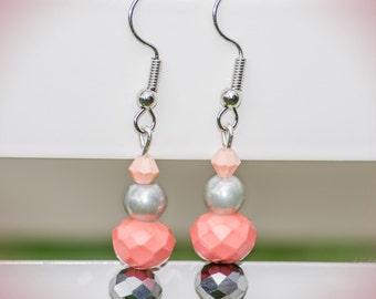 Pink Cupcake - Dangle Earrings