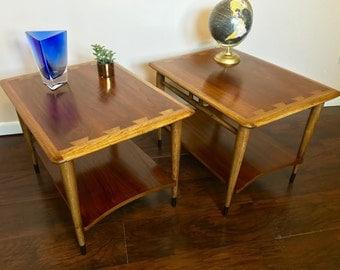 SOLD - Lane End Tables, Mid Century Modern, Side Tables, Refinished, Vintage Furniture