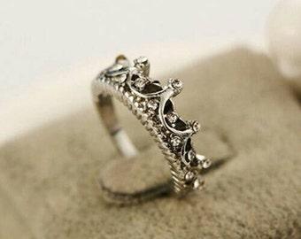 Princess crown ring size 8