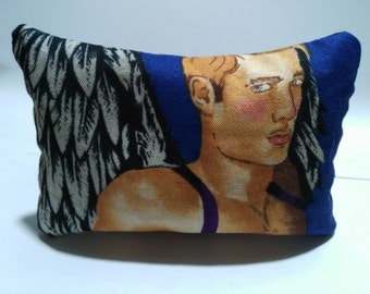 Lavender sachet pillow with an angel.