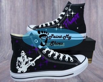 Prince, When Doves Cry, 1999,  converse, hand painted shoes, free shipping in the US