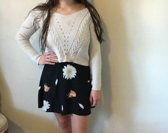 90's floral miniskirt