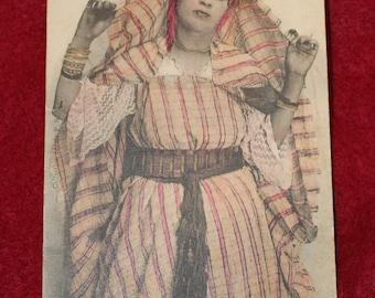 Antique Postcard of Algerian Dancer C. 1907