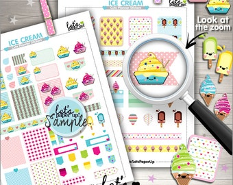 60%OFF - Ice Cream Stickers, Printable Planner Stickers, Sweet Stickers, Kawaii Stickers, Planner Accessories, Popsicle, Food, Dessert