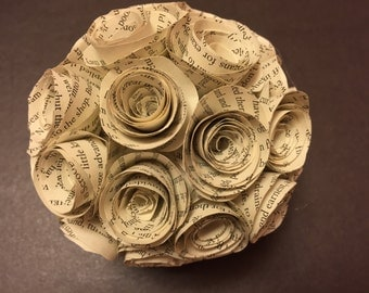 Book Page Rose Ball