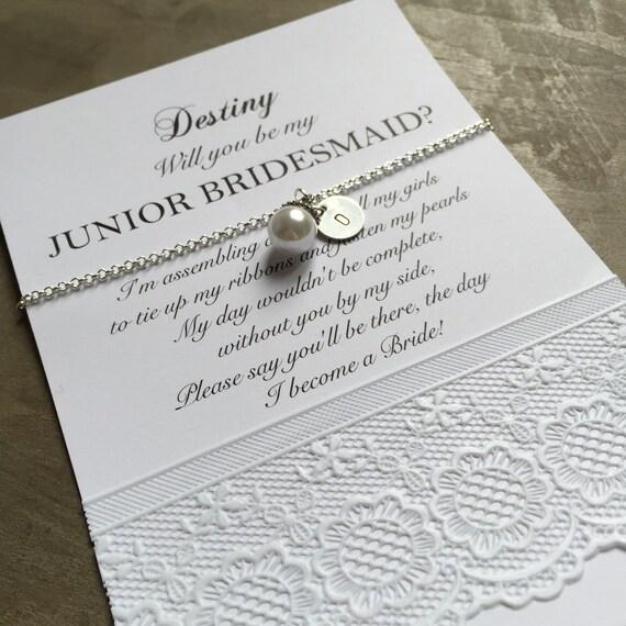 bridesmaid pearl bracelet set