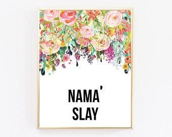 Namaslay, Office Decor, Dorm Decor, College Decor, Cubicle Decor, Motivational Poster, Desk Accessories For Women, Quote Prints, Girl Gift