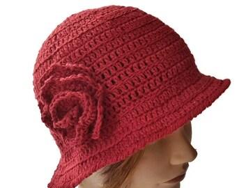 Crochet Women Sun Hat, Women Hat, Crochet Women Summer Hat, Crochet Brim Style Hat, Summer Hat, Women Gift, Women Sun Hat, Hat for Summer