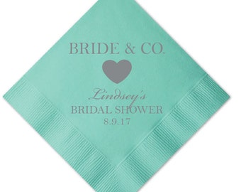 bride and co bridal shower napkins