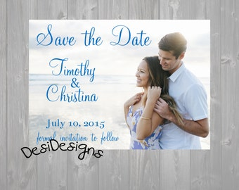 Elegant Save the date Photo Card