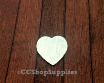 """ON SALE 0.78"""" Heart Shape, 14g Aluminum Blanks, Washer, Stamping Blanks, Hearts, Stamping Supplies, Stamp Blanks, Hand Stamping, Jewelry, He"""