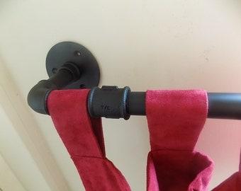 Wrought Iron (Industrial Steel) Custom Made Curtain Rail+
