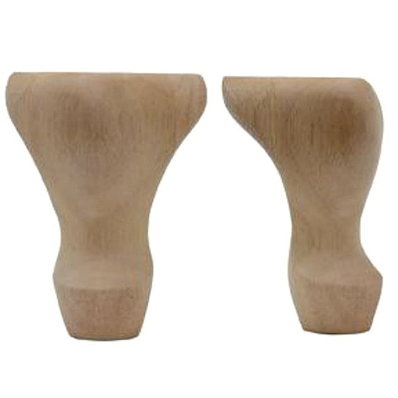Queen anne furniture leg feet unfinished wood couch chair for 6 furniture legs canada
