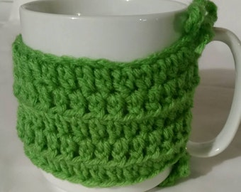 Coffee Cup Cozy- Mug Cozy- Crocheted Cozy