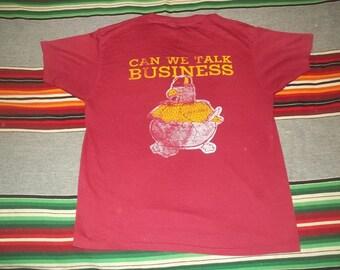 Medium Vintage 1984 Boston College School Of Business Soft Burnout Thin 80s t shirt