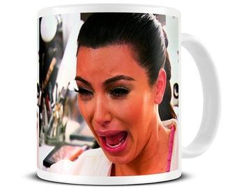 Kim Kardashian Mug - Funny Mug - Kim Kardashian Crying Coffee Mug - Best Friend Gift - Leaving Gifts - Leaving Present MG573