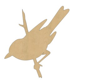 Bird Cutout Shape Laser Cut Unfinished Wood Shapes, Craft Shapes, Gift Tags, Ornaments #802 All Sizes