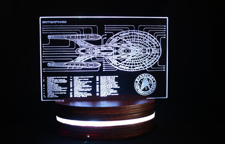 Star Trek Bathroom Accessories Star Trek Enterprise Lamp Inspired Acrylic Light Colour