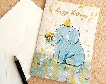 elephant Happy birthday (greeting card)