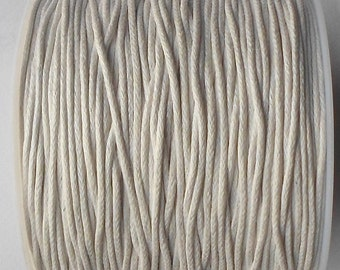 80 Mtrs (1 Roll ) x 1mm White Wax Cotton Thread Cord String Craft Jewellery Making