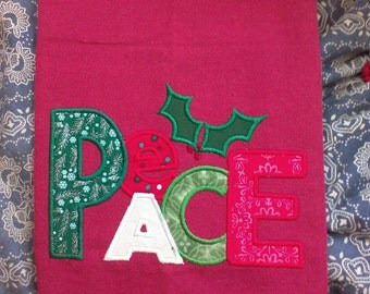 Christmas Tea Towel.... Peace