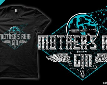 Mother's Ruin - Jenova / Sephiroth / Cloud Strife / Gin Final Fantasy VII T-Shirt