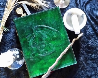 Dragon Leather Bound Blank Book