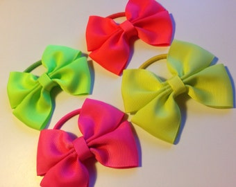 Set of 4 Neon Bow Bobbles